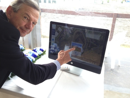 glenn wallace with touch screen
